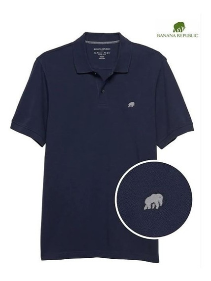 Solid Pique Polo Banana Republic 100% Original