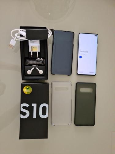Celular Samsung Galaxy S10 128gb Branco Com Garantia