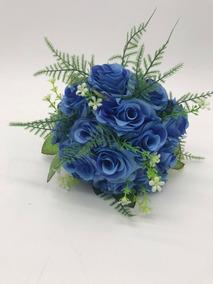 Buquê Artificial Casamento Festa De 15 Anos Azul