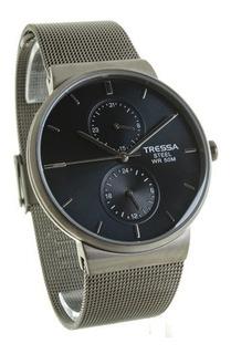 Reloj Tressa Hombre Windsor 42mm Malla Metal Impacto Online