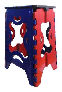 Banco Plegable Plastico 120 Kg Reforzado Varios Colores
