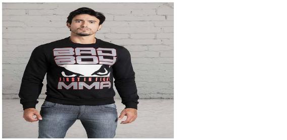 Kit Moletom Masculino Fechado E Camiseta Lisa Bad Boy Preto