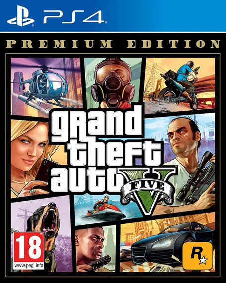 Jogo Grand Theft Auto V (gta 5) - Ps4 Premium Eddicion