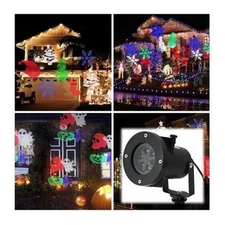 Proyector Navideño Led 12 Placas Intercambiables Multi Dise