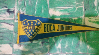 Antiguo Banderin Años 70 ** Boca Juniors ** 18 Estrellas