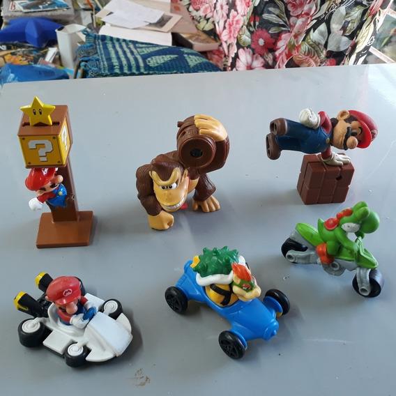 Coleção Mario Bros. 6 Brinquedos Mac Donalds