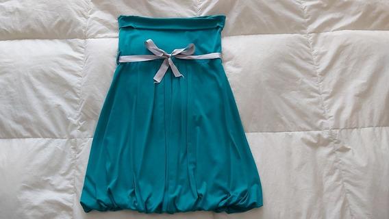 Vestido Corto Strapless Talle 2 = M Elastizado