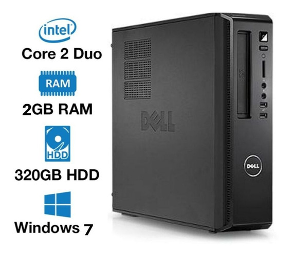 Cpu Dell Core 2 Duo-e7500 2gb 320gb Com Garantia