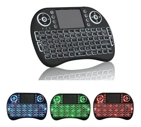 Mini Teclado Led Wireless Sem Fio Com Mouse Touch Pad Para Celular Pc Ps4 Xbox Game Android Tv Smart
