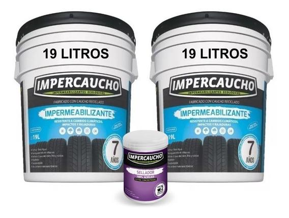 Impermeabilizante Impercaucho 2 Cubetas 19 + Sellador