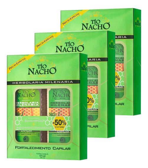 Tio Nacho Herbolaria Milenaria Shampoo + Acondicionador X3
