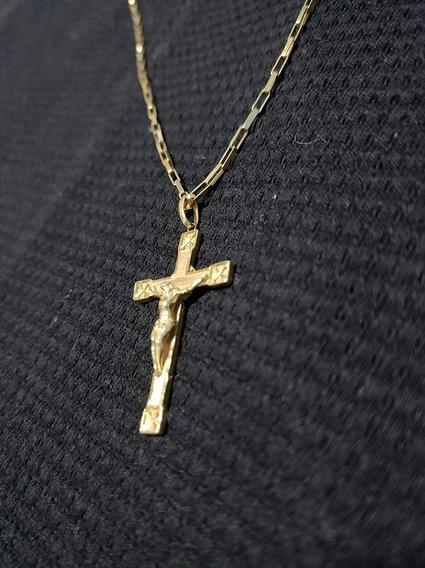 Cordão Ouro 18k Crucifixo 60cm