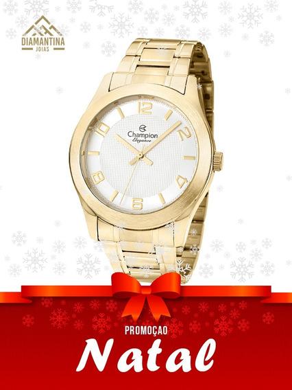 Relógio Feminino Champion Dourado Cn26493h