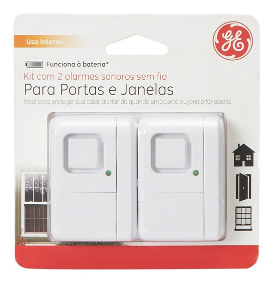 Alarme De Portas E Janelas Sem Fio - Marca Ge - 2 Unidades
