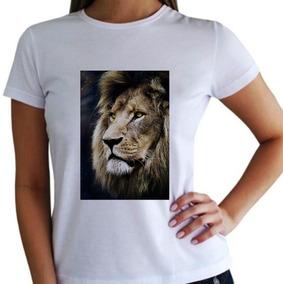 61570ef0b Camiseta Gospel Leao Feminina - Camisetas Manga Curta no Mercado ...