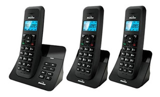 Teléfono Inalámbrico Luna1225 Triple Binatone Color Negro