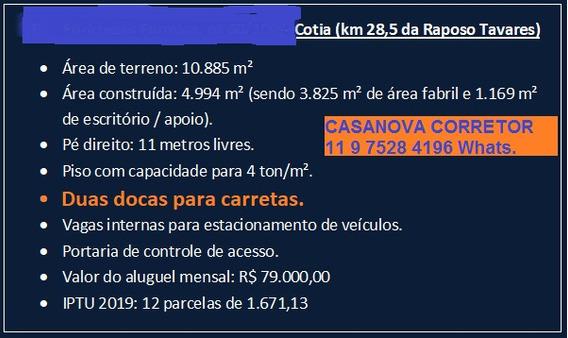 Galpões A.padrão A.t.10.000 M2- 5.000m2 Cotia Km 28,5