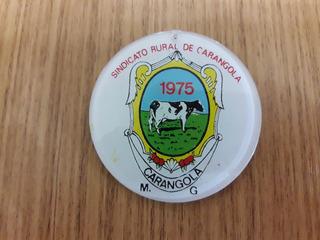 Broche Enfeite Sindicato Rural Carangola 1975 Minas Gerais