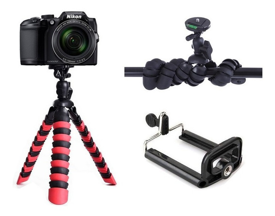 Mini Tripé Mesa Octopus Filmadora Camera Nikon Canon