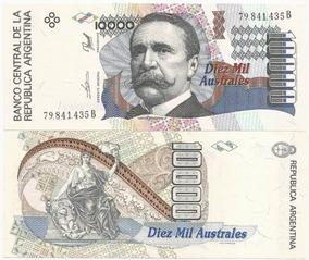 Argentina 10000 Australes 1989 P. 334a Fe Cédula - Tchequito