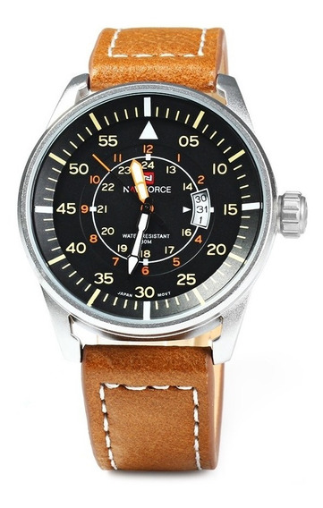 Relógio De Pulso Naviforce De Luxo F5 Militar Analógico