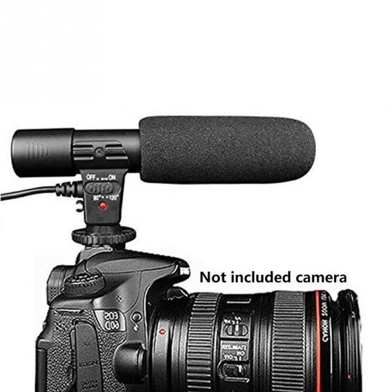 Microfone Direcional Para Câmera Dsrl Ou Pc