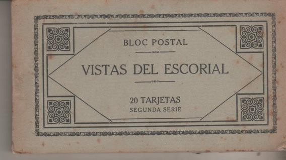 Antiguo Libro De 20 Postales * Vistas Del Escorial * España