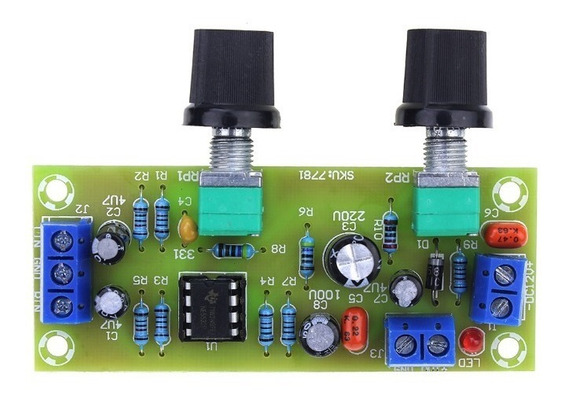 Placa Pre Amplificador Subwoofer Crossover Mono Low Pass Pro