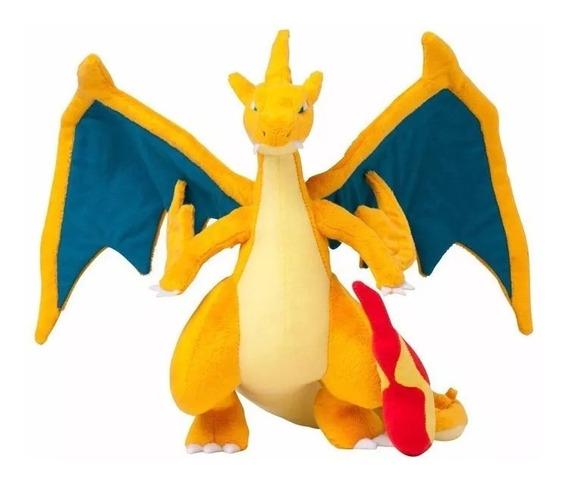 Mega Charizard Y Pelúcia Pokemon Go Pronta Entrega
