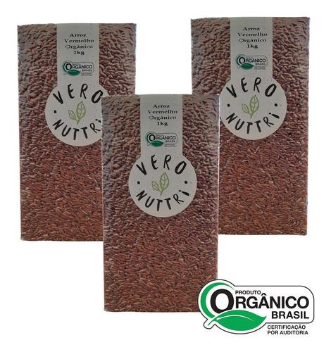 Imagem 1 de 1 de Kit Arroz Vermelho Orgânico Vero Nuttri (3 Un)