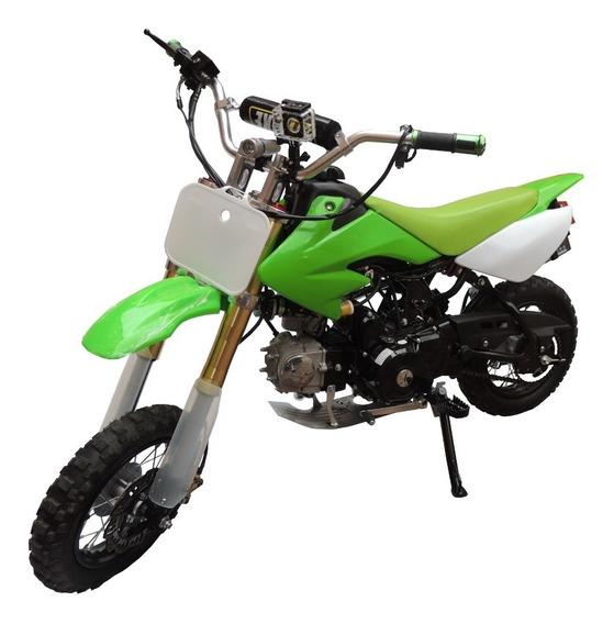 Mini Moto Cross 110 Cc 4t Semiautomática 4 Velocidades