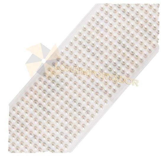 Plancha Perlas Autoadhesivo Deco Tubos Espejos