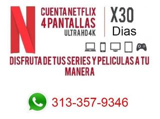Cuentes Ñetfix 5 Pntalla Uhd4k Por Mes Original.