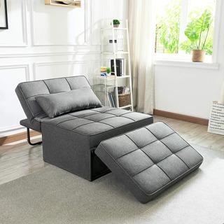 Sofa Cama Moderno Gris Oscuro P/ Espacios Pequeños