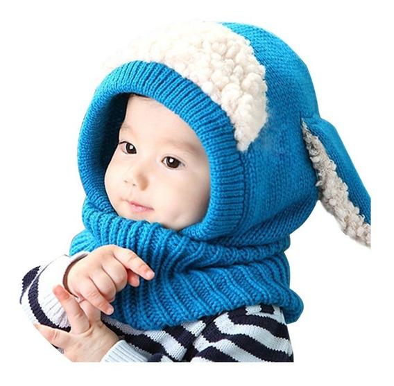 Gorro Bufanda Bebes Niños Invierno Frio-entrega Inmediata