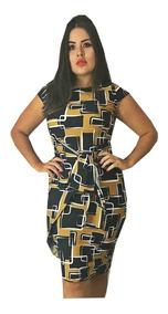Vestido Feminino Midi Transpassado Laço Moda Evangelica