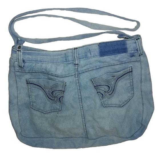 Cartera En Tela Jeans Y 2 Porta Llaves Villa Luro