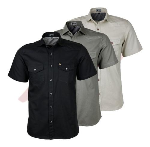 Kit 03 Camisas Casual Masc Estilo Militar 2 Bolsos Review