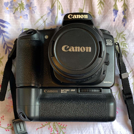 Canon Eos 20d + Battery Grip Bg-e2 + Lente 18-55mm
