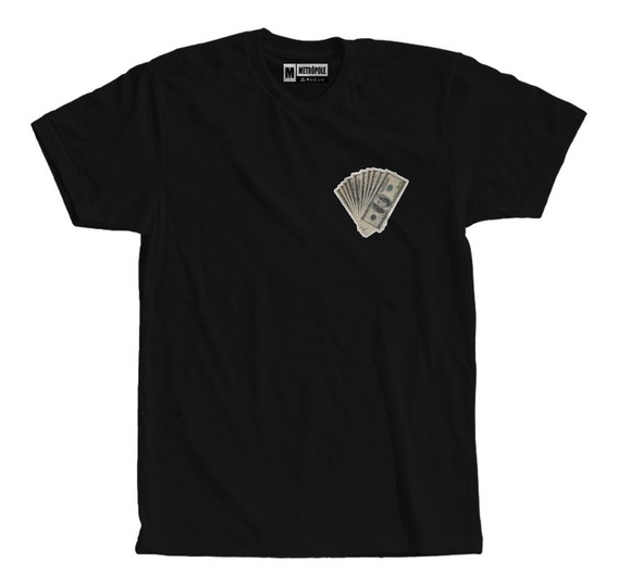 Camiseta Dolar Swag Hip Hop Moda Tumblr Trap Rap Money Notas
