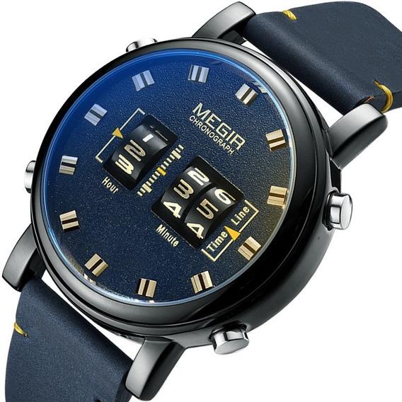 Megir Roller Relógio De Pulso De Quartzo Azul