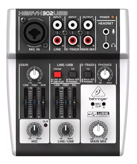 Mesa De Som Behringer Xenyx 302usb Mixer