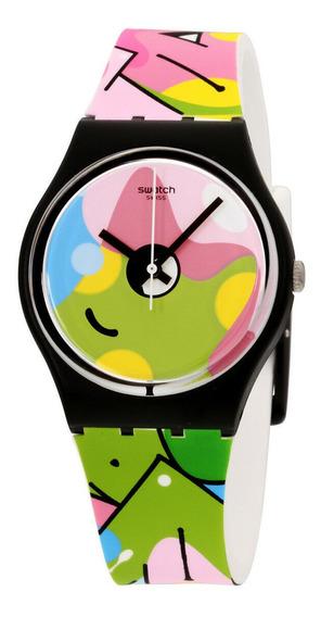 Relógio Masculino Swatch Gb317 Pulseira De Silicone
