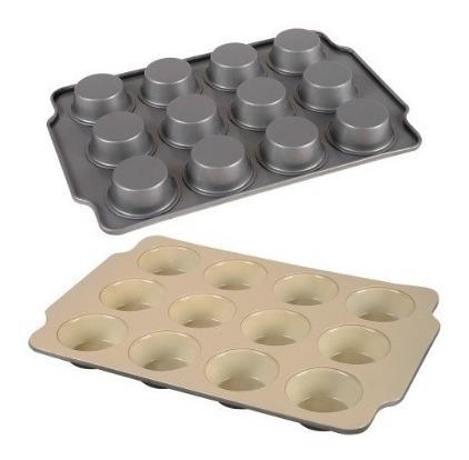 Molde Muffins Cupcakes Ceramica Antiadherente 12 Cavidades