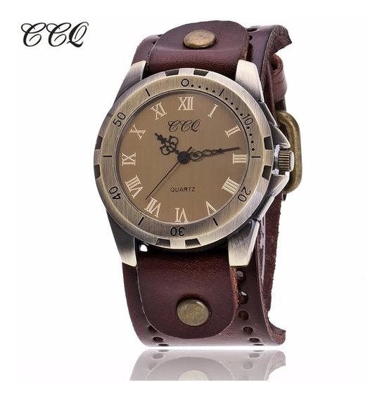 Relógios Feminino Masculino Marca C C Q Pulseira Em Couro