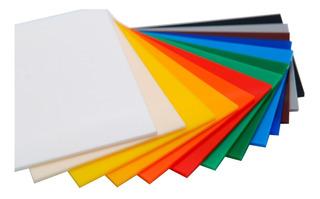 Lamina Acrílico Transparente - Colores - Grosor 2mm A 30mm