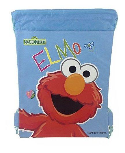 Sesame Street Elmo Mochila Con Cordon 10 X 14 Mochila De Nai