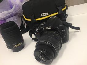 Nikon D5000 Com 2 Lentes E Case Nikon Praticamente Nova!