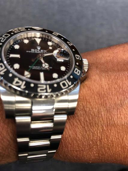 Rolex Gmt Cerâmica E Aço. Completo