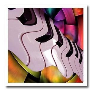 Música Piano Abstracto Hierro Sobre Heat Transferencias